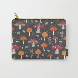 Funghi - Gray Carry-All Pouch