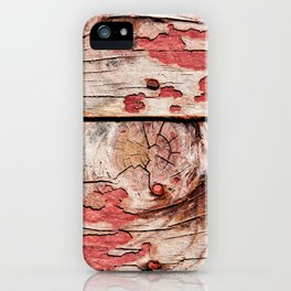 Old Knotty Wooden Planks iPhone Case