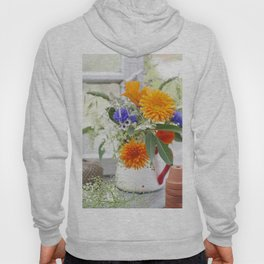 Natural flowers at the window Hoody