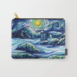 Tardis Starry Night Art Carry-All Pouch