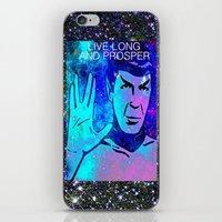 spock iPhone & iPod Skins featuring SPOCK by Saundra Myles