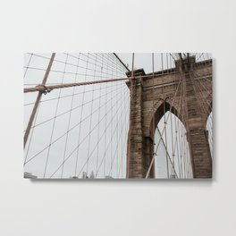 Brooklyn Bridge close up | Colourful Travel Photography | New York City, America (USA) Metal Print