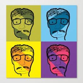 mustach man Canvas Print