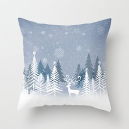 Lonely Winter Throw Pillow