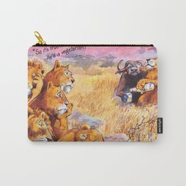 vegetarian lion Carry-All Pouch