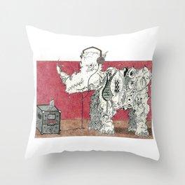 Rock Rhino Throw Pillow