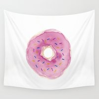 donut Wall Tapestries featuring Donut by Janelle Adamson