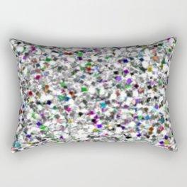 Silver and White Mermaid Glitter Rectangular Pillow