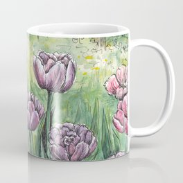 Tulips - Spring watercolor painting Coffee Mug