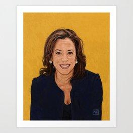 Senator Kamala Harris, Democratic candidate for President 2020 Art Print