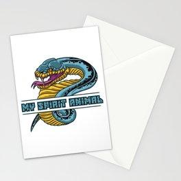 Snake Is My Spirit Animal | Cobra Anaconda Viper Stationery Cards