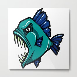 Piranha Metal Print