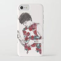 coconutwishes iPhone & iPod Cases featuring Floral Louis by Coconut Wishes