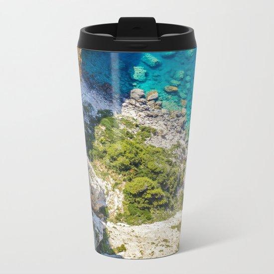 Greece Metal Travel Mug