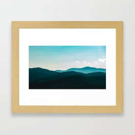 Messina mountains in Italy Framed Art Print