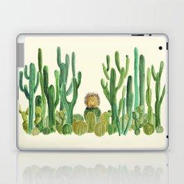 In my happy place - hedgehog meditating in cactus jungle Laptop & iPad Skin