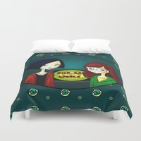 daria Duvet Covers featuring Daria by Paz Huichaman