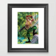 Going Commando Framed Art Print
