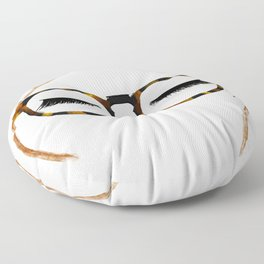 Tortoiseshell Glasses Red Floor Pillow