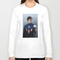 bucky barnes Long Sleeve T-shirts featuring Bucky by E Cairns Art
