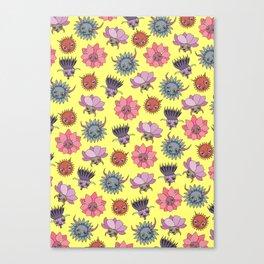 Wildflowers - Sunny Canvas Print