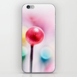A pincushion in a very colorful mood... iPhone Skin