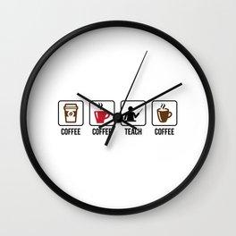 Coffee Coffee Teach Coffee Wall Clock