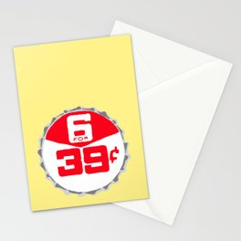 6 for 39¢ bottle cap lefty Stationery Cards