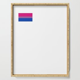 Gay Pride LGBT Bisexual Bi Rainbow Tiny Flag 2018 Serving Tray