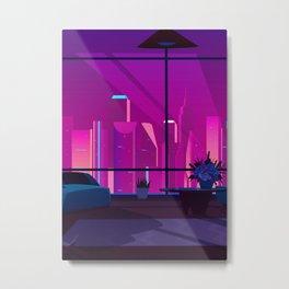 Synthwave Neon City #17 Metal Print