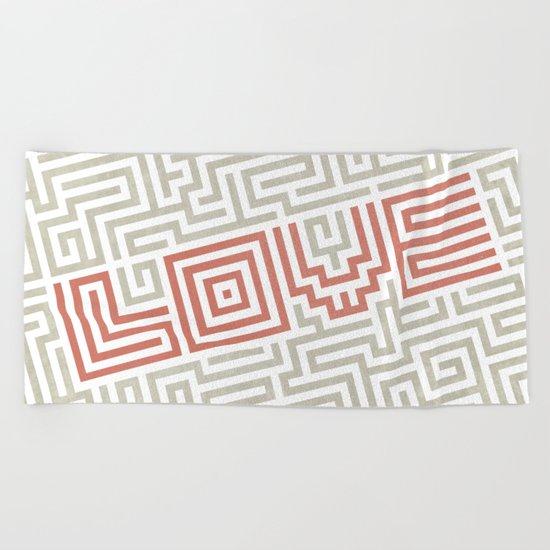 Love game Beach Towel