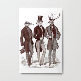 Gentlemen in the Woods Metal Print