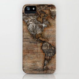 Reclaimed Map 2 iPhone Case