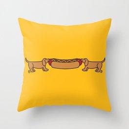 Hot Dog-O-War Throw Pillow