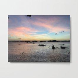 El Nido vivid sunset Metal Print
