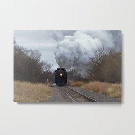 Big Boy Steaming threw Black Wolf Kansas Metal Print