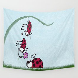 Ladybug Professing His Love Wall Tapestry