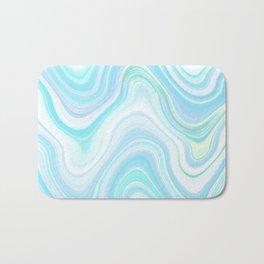 Cool Pastel Blue Lava Marble  #marble #society6 #abstractart Bath Mat