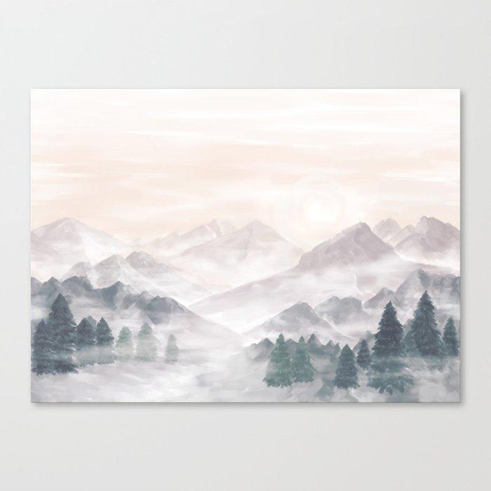 Misty Mountains Canvas Print