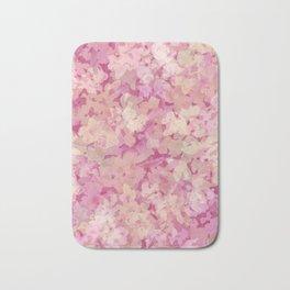 Peach Pie Floral Bath Mat