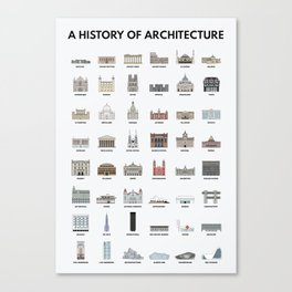 A HISTORY OF ARCHITECTURE Canvas Print