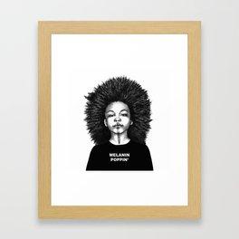 Melanin Poppin Framed Art Print