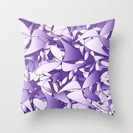 Pattern violet 211 Throw Pillow