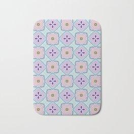 Antonia pink and purple flower pattern Bath Mat