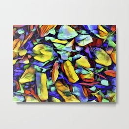Colorful Rock Abstract Metal Print