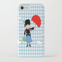 mary poppins iPhone & iPod Cases featuring Mary Poppins by EnelBosqueEncantado