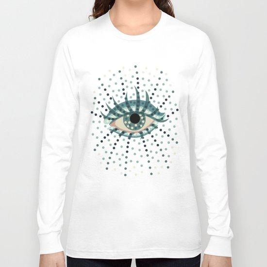 Dots And Abstract Eye Long Sleeve T-shirt