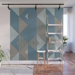 Blueprint Geometric Pattern 2 Wall Mural