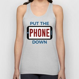 Less Phone More Connection Human Touch Unisex Tank Top