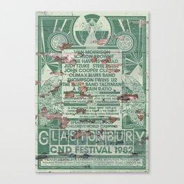 Distressed Glastonbury 1982 Poster Canvas Print